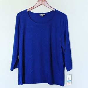 NEW JM Collection Royal Blue Shirt